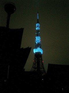 増上寺から見た東京タワー