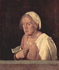 ジョルジョーネ「老婆の肖像」