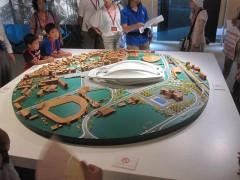 旧国立競技場に展示されていた、新しい国立競技場の模型