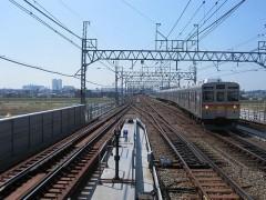多摩川を渡る鉄橋