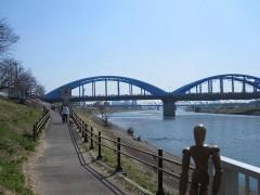 今回は、丸子橋を望む、ここまで