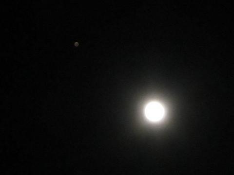 月と並ぶ火星