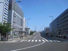 左側の側道を進む[写真5]