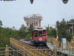 電車が駅へ進入
