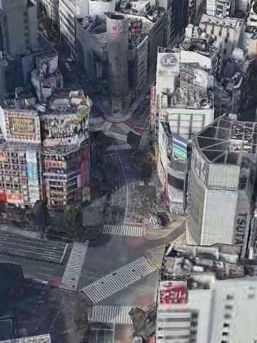 渋谷スクランブル交差点から道玄坂