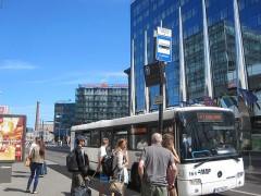 空港方面行きのバス