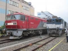 新旧の電気機関車が並ぶ
