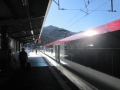 河津駅に到着