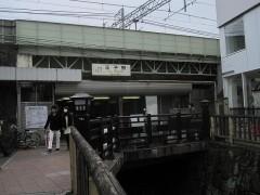 川の真上に王子駅がある