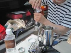 モリちゃんは挽き立てのコーヒーを…