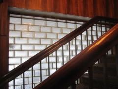 階段室のガラスブロック