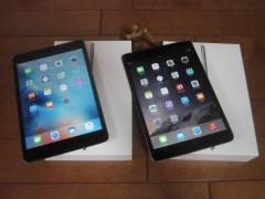 iPad mni3とiPad mini4
