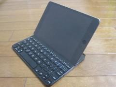 iPad mini 4 だと、ちょっとの振動で倒れてしまう