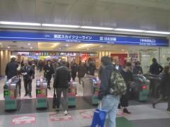 いまだに慣れない呼び名の「東武スカイツリーライン」乗り場