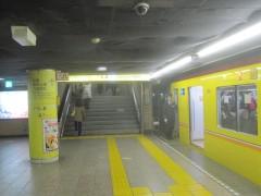銀座線浅草駅の突き当たりの階段を上がる