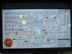 路線図は、東京メトロと都営地下鉄を区別なく表示