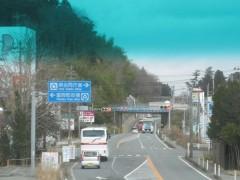 富岡町の中心部を通過