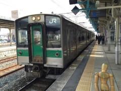 """""""孤立区間""""の列車…相馬駅行き"""