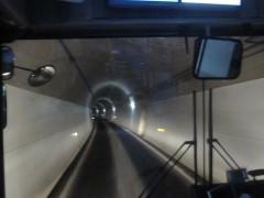 トンネルも単線分の幅しかない