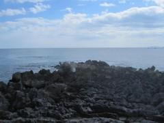 潮吹岩(あまり見えないけど)