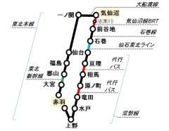 南東北縦断の旅概要図