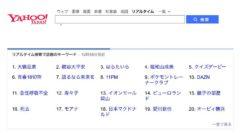 検索キーワードにも変化が…