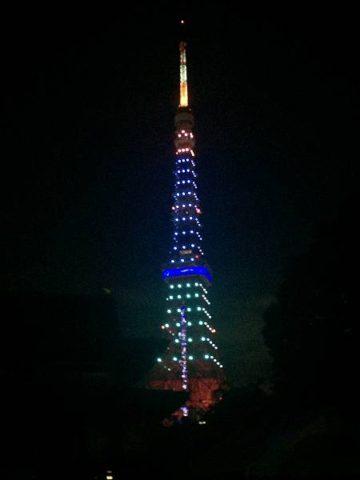 梅雨明け当日のみの東京タワーライトアップj