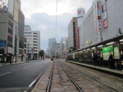 午前7時前の広島市内はまだ静か
