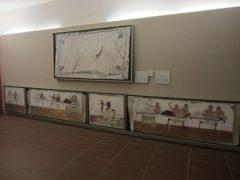 棺(正しくは掘った穴の壁)の内部と蓋に描かれた絵