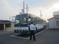 富岡駅行きの代行バス