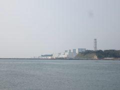 福島第二原子力発電所がよく見えた
