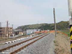 常磐線の線路はここで一旦途切れる