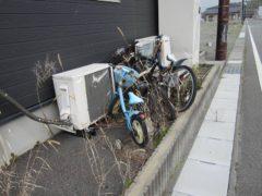 自転車がそのまま