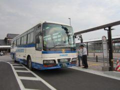 代行バスで竜田駅へ