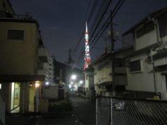 遠くに東京タワー