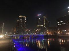 堂島川沿いのライトアップ