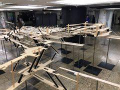 新宿駅の立体模型