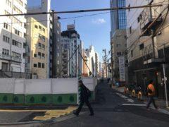 旧東横線線路跡と渋谷川