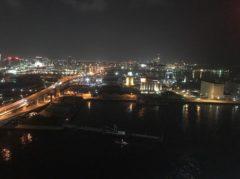 博多港が一望できる