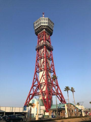 今日は博多ポートタワーの外観をしっかり見ることができた