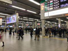 朝の梅田駅