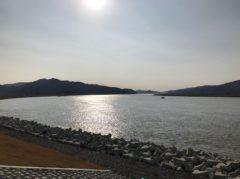 この付近を流れる北上川は、とにかく広い