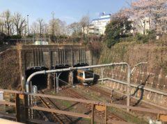 地下鉄丸ノ内線の下をJR中央線が走る