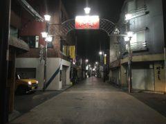 静まり返った小町通り