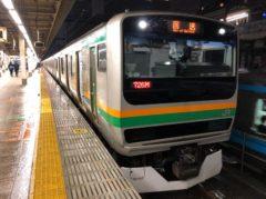 東京駅に到着して撮影
