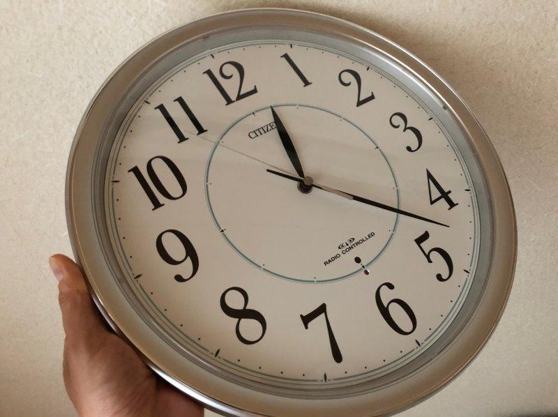 朝7時なのに…まったく合ってない…