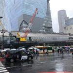 雨の渋谷…