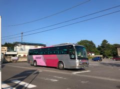 草軽電鉄の流れをくむバスは今もここを始発としている
