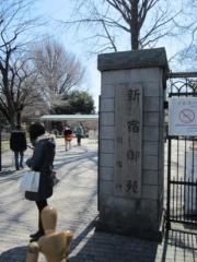 会場の新宿御苑にはずいぶん行ってない(2012年1月)