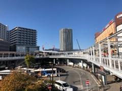 海老名駅方向を見る
